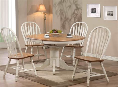 missouri white single pedestal dining room set  eci