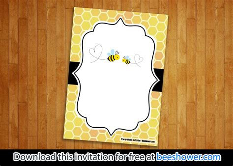 bee baby shower invitations templates