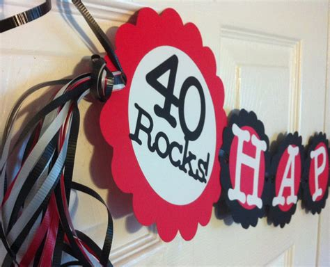 40th Birthday Decorations by 40th Birthday