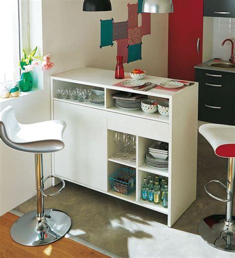 bar de cuisine avec rangement rangement cuisine déco mural pratique côté maison