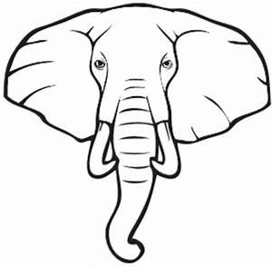 Elephant Head Outline | Free download best Elephant Head ...