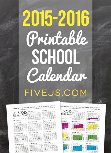 printable school calendar homeschooling