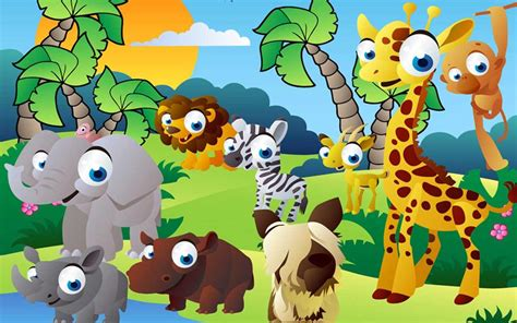 cartoon zoo animal wallpaper