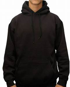 Black Pullover Blank Fleece Hoodies For Men - Buy Pullover ...