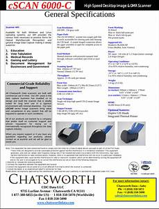 Chatsworth Data Cscan6000c Scanner User Manual Cscan6000 C