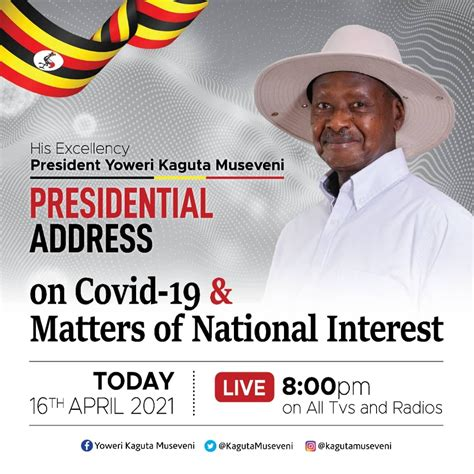 President cyril ramaphosa will address the nation at 8pm today, february 1 2021, on developments in relation to the country's response to the coronavirus pandemic. President Museveni set to address the Nation Today - NRM ...