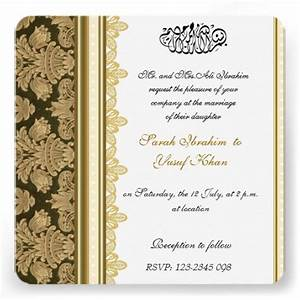 gold damask brocade muslim wedding card damasks With wedding invitations pakistani text