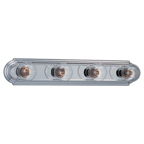 4 light vanity bar sea gull lighting de lovely 4 light chrome vanity bar
