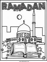 Ramadan Coloring Pages Eid Activities Islamic Crafts Arabicplayground Sheets Printable Arabic Visit Cards Mubarak Studies Decorations Islam Worksheets Al Kleurplaten sketch template