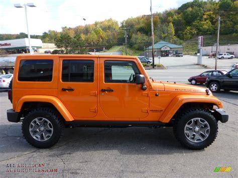 jeep rubicon orange 2013 jeep wrangler unlimited rubicon 4x4 in crush orange
