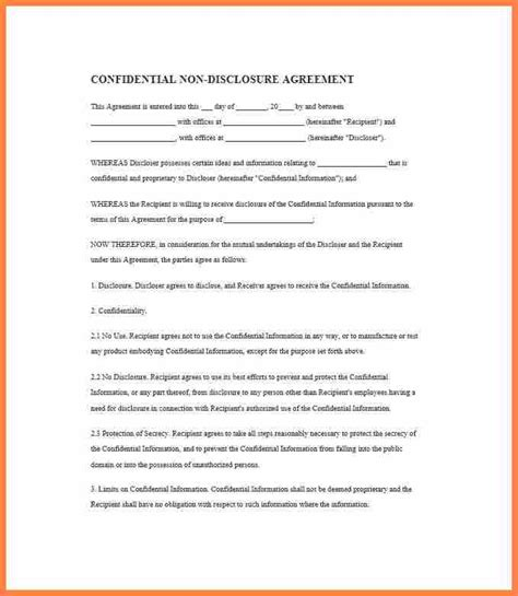 simple  page  disclosure agreement purchase