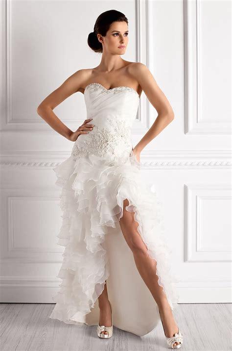 robe ourlet asymetrique pour mariee moderne robe de mari 233 e demoiselle d honneur