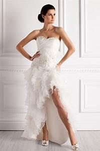 Robe De Mariée Moderne : robe ourlet asymetrique pour mariee moderne robe de ~ Melissatoandfro.com Idées de Décoration