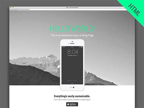 Landy Html Parallax App Landing Page Freebiesbug