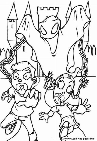 Coloring Ghost Pages Halloween Scary Printable Ghostbusters