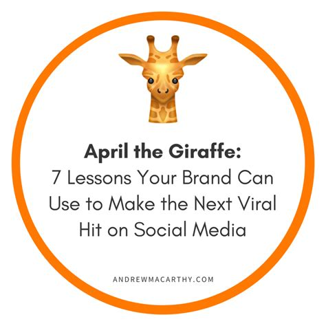 april si e social april the giraffe 7 lessons your brand can use to