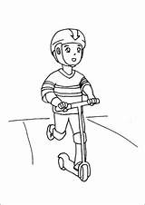 Scooter Boy Riding Coloring Razor Pages Toys Printable Additions Newest Freeprintablecoloringpages sketch template