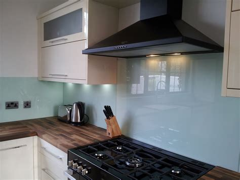 Cooker Backsplash : Painted Kitchen Natural Glass Splashbacks