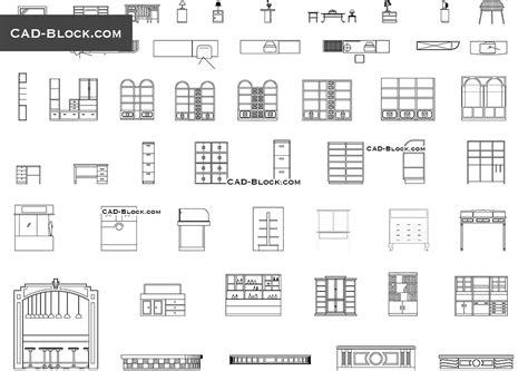 auxiliary furniture cad blocks