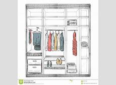 Hand Drawn Wardrobe Sketch Stock Vector Image 64731131