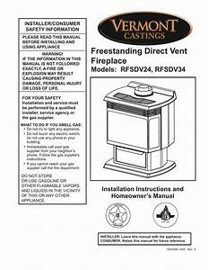 Vermont Castings Rfsdv24 Operating Instructions