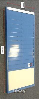 wall mounted  metal job card rack  pockets
