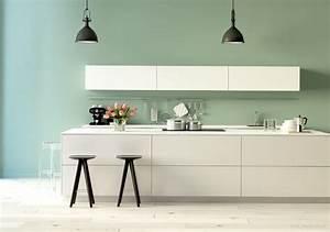 Grau Grün Wandfarbe : welche farbe f r die k che kolorat ~ Frokenaadalensverden.com Haus und Dekorationen