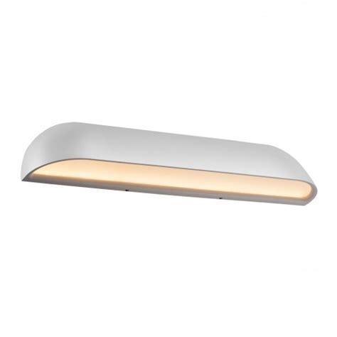 dftp nordlux front 36 outdoor led wall light white