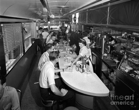 Interior Of A Busy Diner, C.1950-60s Photograph by H ...