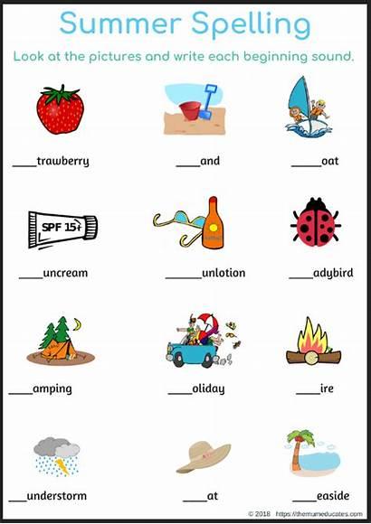 Spelling Summer Activities Sounds Fun Beginning Holidays