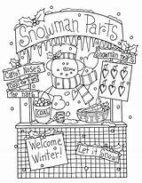 Coloring Snowman Christmas Pages Dolls Stamps Booth Adult Dearie Digi Navidad Bordado Primitive Dibujos Mano Designs Adults Embroidery Deariedollsdigis Need sketch template