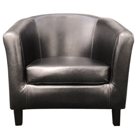 brown faux leather tub chair sales