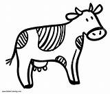 Cow Coloring Pages Simple Printable Adults sketch template