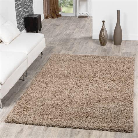 Teppich Wohnzimmer Beige by Hochflor Shaggy Teppich Preishammer Uni Einfarbig In Real