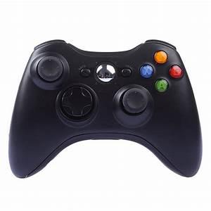 Controle Sem Fio Wirelles Xbox 360 Joystick Preto E Branco