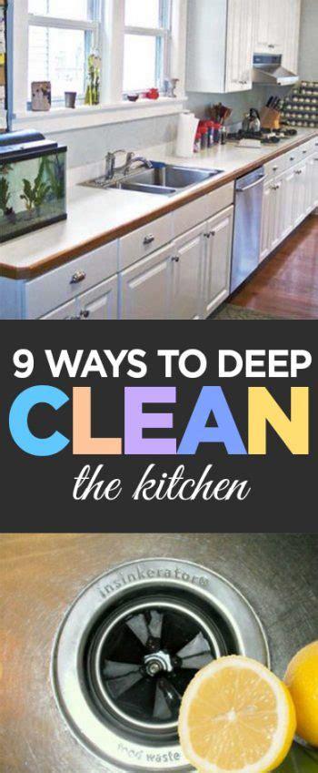 9 Ways To Deep Clean The Kitchen  Organization Junkie