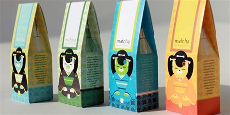matcha green tea box daily package design