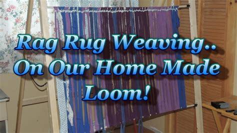 rag rug weaving   simple home  loom youtube