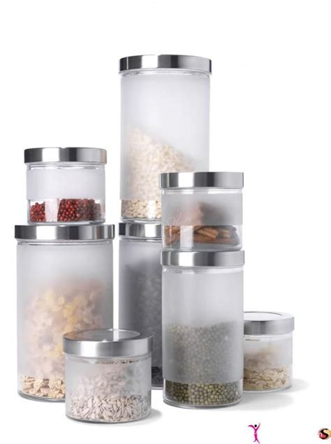 Food Canisters Kitchen by Frosted Glass Food Containers Kitchen Pictures Vases