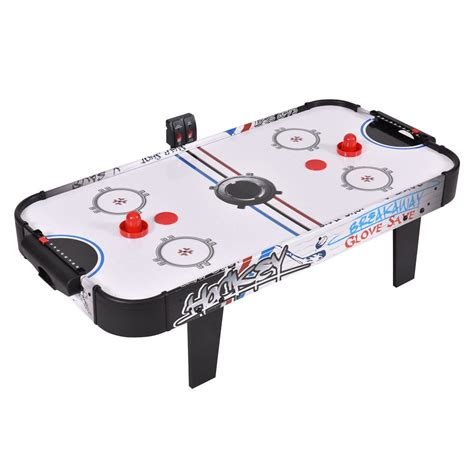 air hockey table game 42 quot air powered hockey table game room indoor sport