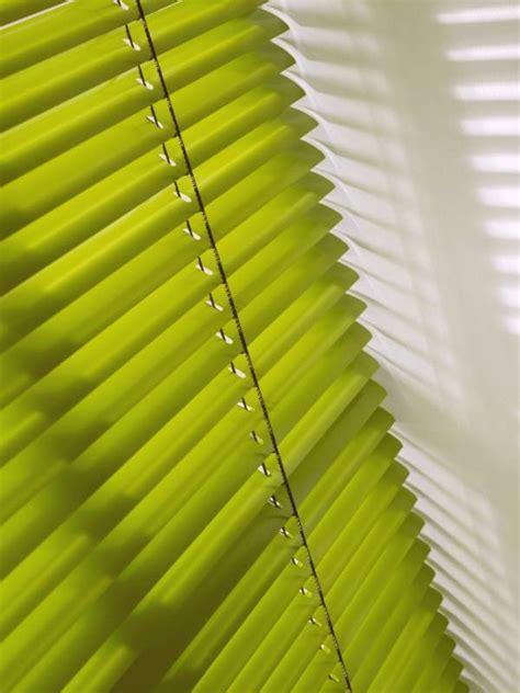 lime green venetian blinds    room