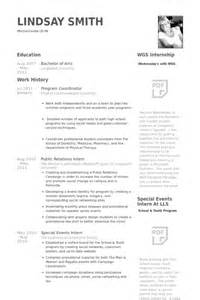 resume for after school program coordinator sle cv program coordinator
