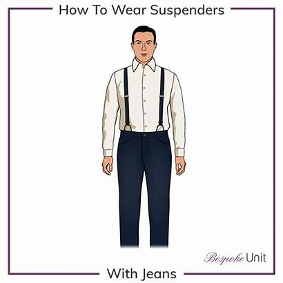 Braces Wear Trousers Suspenders Jeans Wearing Suspender