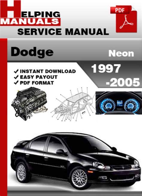 free online car repair manuals download 1992 plymouth free 1997 plymouth neon repair maunuel free dodge neon 1997 factory service repair manual