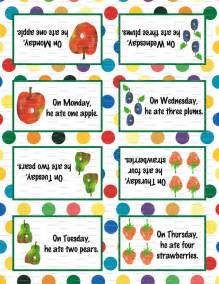Very Hungry Caterpillar Printable Food Labels
