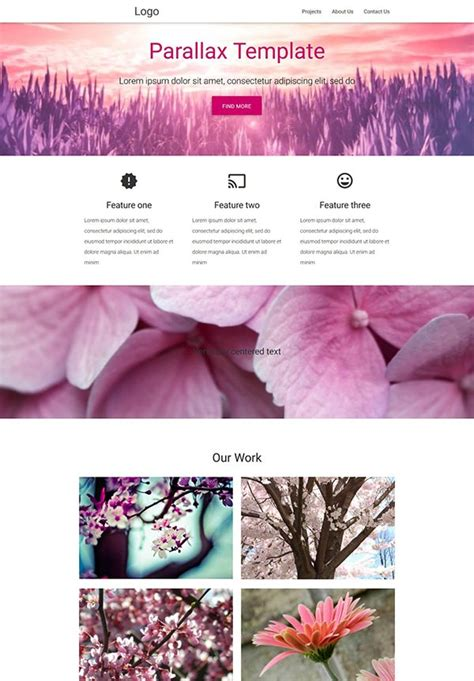 parallax template best free material design resources 04 15 creativecrunk