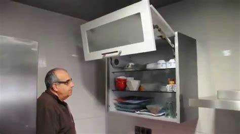 mueble cocina alto  puertas elevables youtube