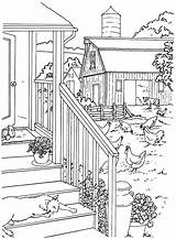Coloring Pages Country Farm Adults Adult Printable Colouring Living Detailed Sheets Scenes Chickens Books Drawing Scenic Chicken Garden Rocks Artikel sketch template