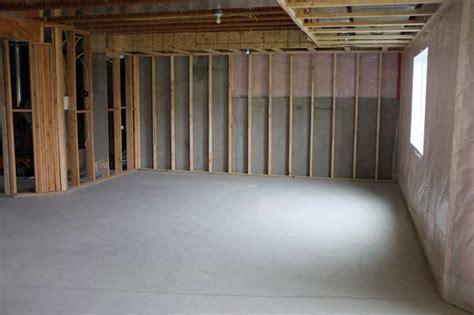 Framing Concrete Basement Walls basement framing and soffit planning