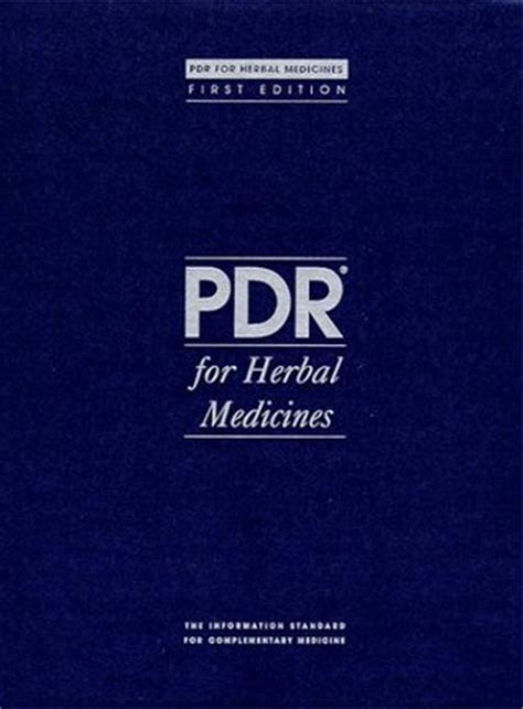 physicians desk reference pdr  herbal medicines